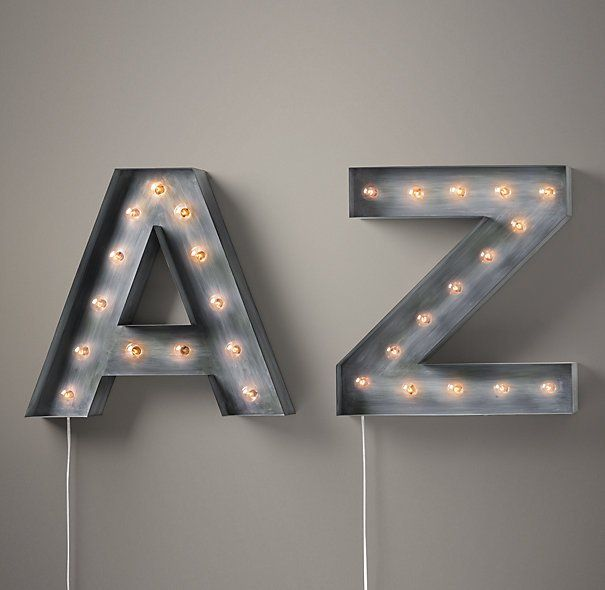 Fancy - Vintage Illuminated Marquee Letters | Letters & Numbers | Restoration Hardware