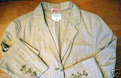 American Eagle Jacket Plaid Fully Lined Button Casual Jacket Size Large, Stretch. $14.80