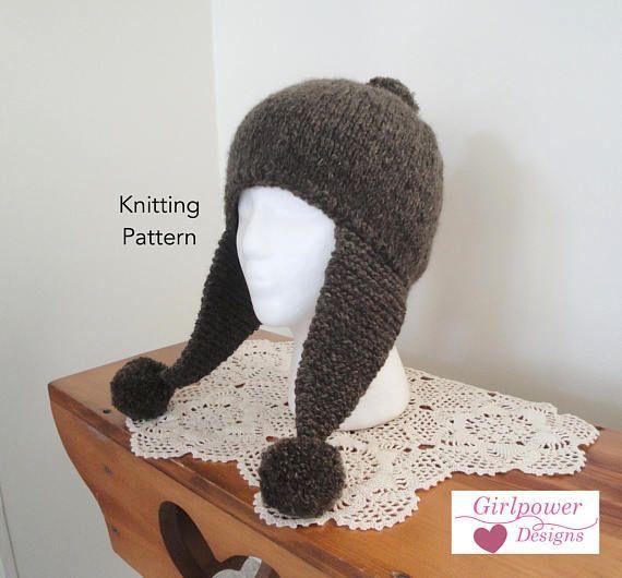 Knitting Pattern Aviator Hat : The 25+ best Aviator Hat ideas on Pinterest Amelia earhart costume, Crochet...
