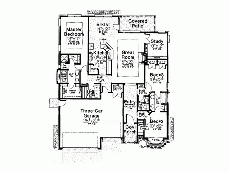 17 best images about house plan favourites 3 on pinterest for Half basement house plans