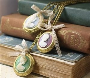 29 best make your own jewelry images on pinterest wire wrap items similar to pemberley locket cameo necklace lace bow vintage style brass victorian on etsy find this pin and more on make your own aloadofball Image collections