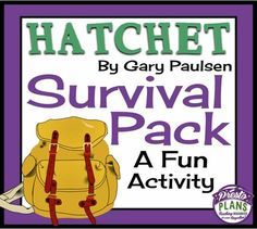 HATCHET: Whats In The Survival Pack? - Fun Class Activity from Presto Plans on TeachersNotebook.com (3 pages)
