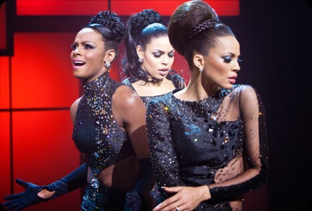 Carmen Ejogo, Tika Sumpter, and Jordin Sparks are Sister and the Sisters sporting Ruth Carter's costumes in Sparkle (2012). Didn't particularly care for the movie, but I appreciate Ms. Carter's work.