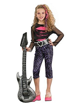 80 and 90s outfits | Costumes » Girls Costumes » 80's Costumes » Kids 80s Rock Star ...