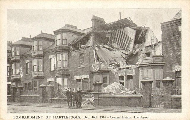Bombardment damage to Central Estate, Hartlepool