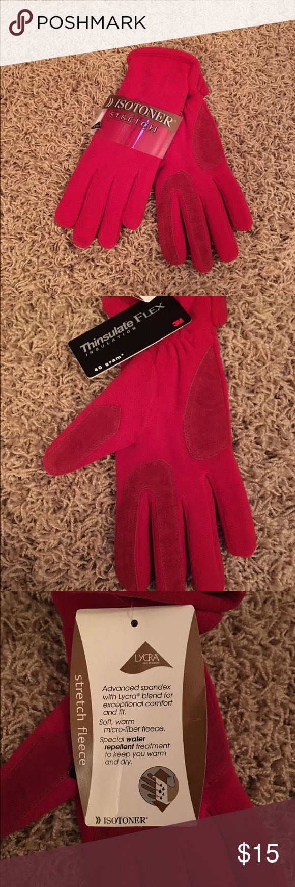 Gloves in Red. NWT. Isotoner Thinsulate Gloves in Red. Great Christmas Gift. Isotoner Stretch Accessories Gloves & Mittens
