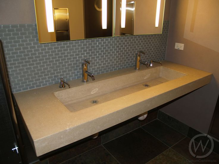 Find This Pin And More On Bathroom Concrete Sinks U0026 Countertops.