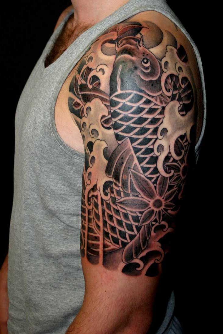 31 best tattoos images on pinterest for Black koi fish meaning