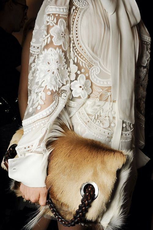 Fur handbag - De Mano De Piel