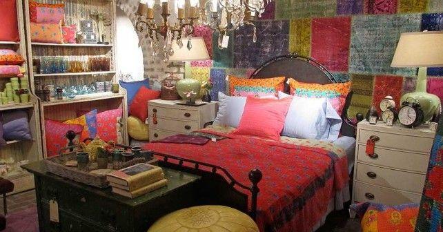 Интерьер спальни в богемном стиле