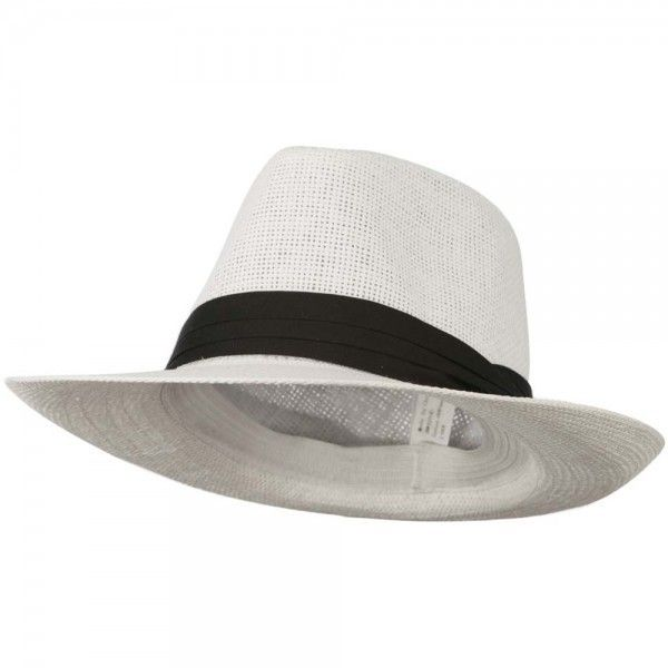White Men's Large Brim Fedora Hat ❤ liked on Polyvore featuring men's fashion, men's accessories, men's hats, mens white fedora hat, mens wide brim fedora hats, mens hats fedora, mens hats and men's brimmed hats