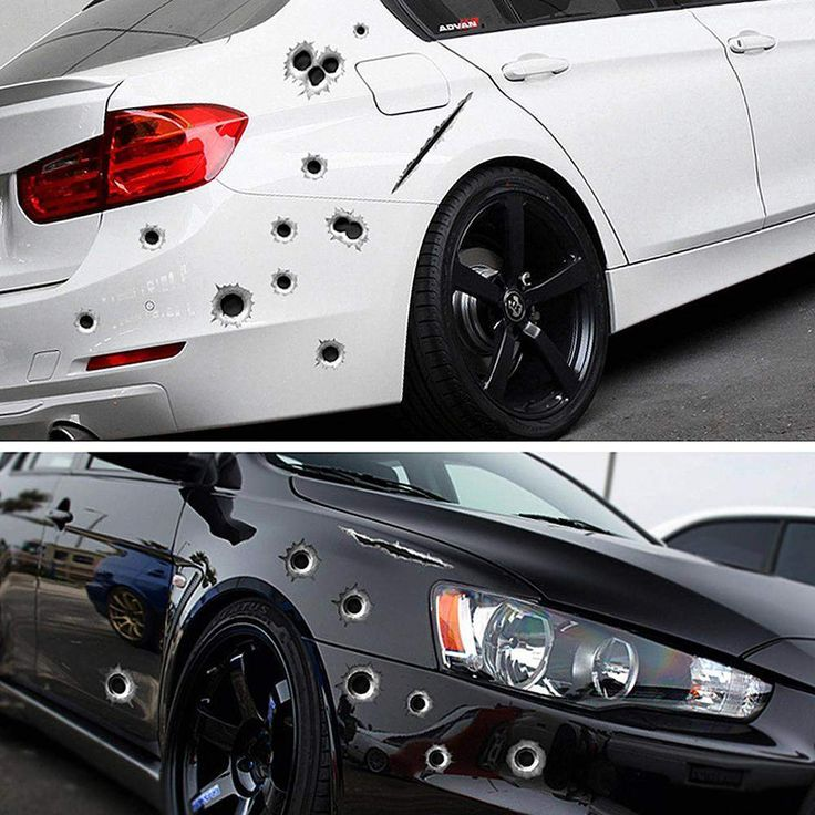 Buy Wallmart.win Car Side Stickers Funny Decal Car-covers Accessories Graphics Auto Motorcycle Decoration Sticker 3D Bullet Hole Car Styling