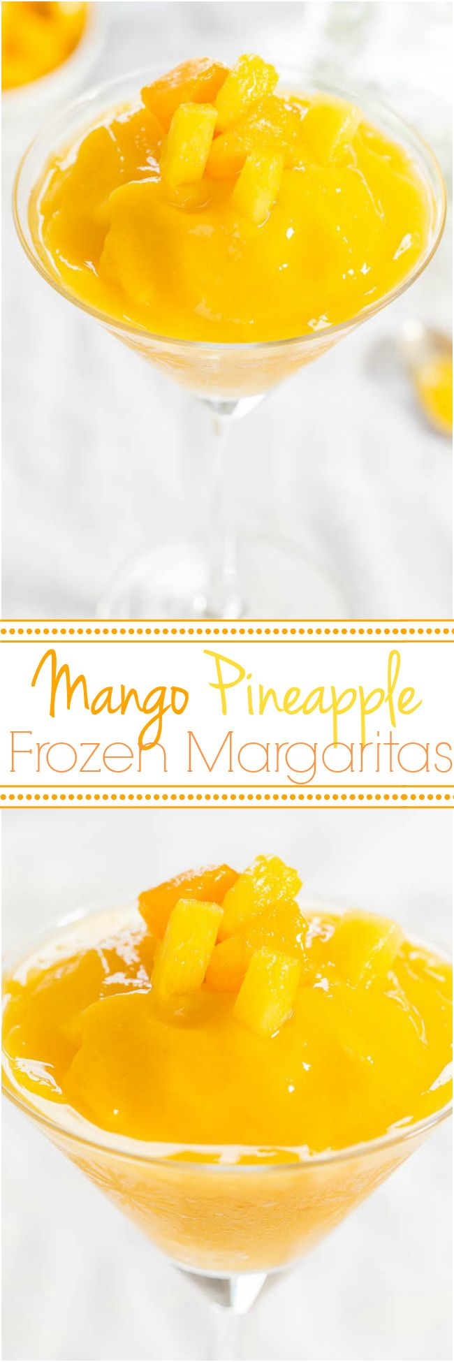 Mango Pineapple Frozen Margaritas..!!