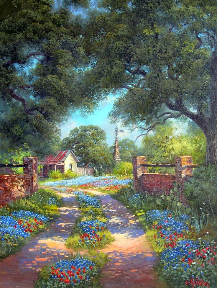 Nativa del Texas,Kay Walton è ispirata dai paesaggi e la bellezza naturale dello stato, e si reca spesso a Hill Country costellata di qu...