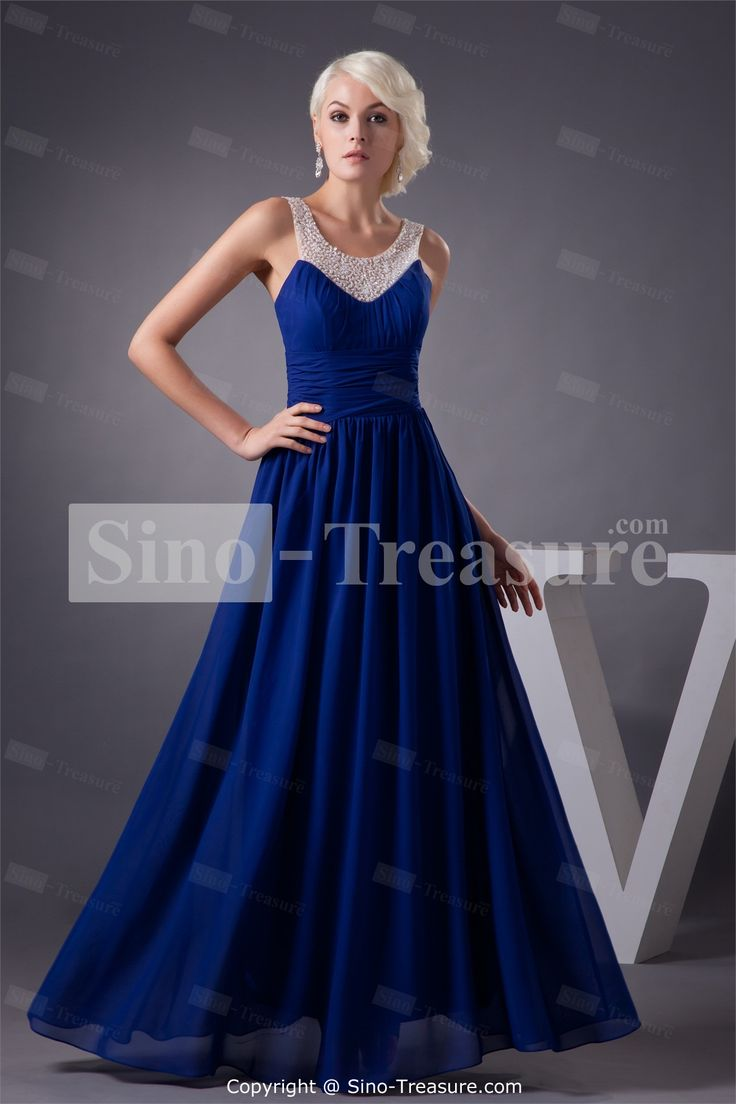 Maxi dress royal blue masquerade