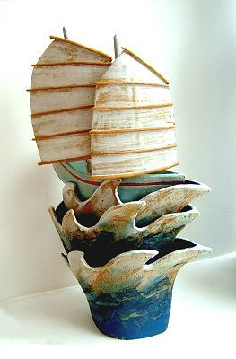 'Jade Princess' Ceramics by Terri Smart at Studiopottery.co.uk - 2003. Stoneware. approx. 54cm tall.