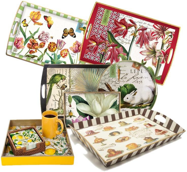 Decoupage Tea Trays