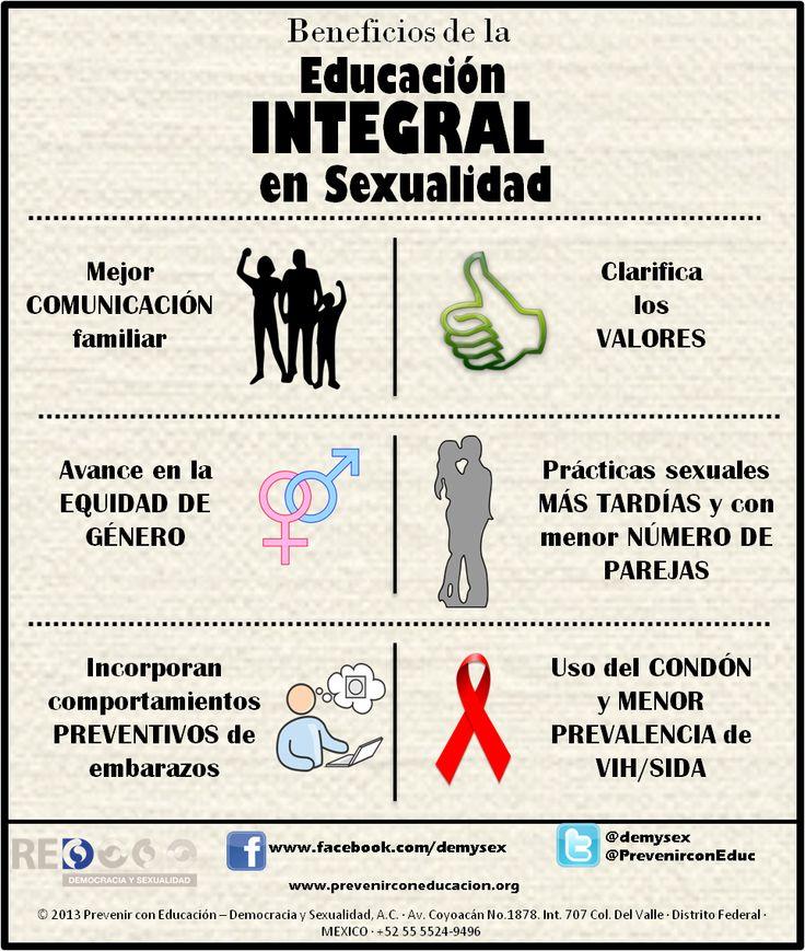 ¿Cuáles son los beneficios de educación integral en sexualidad?