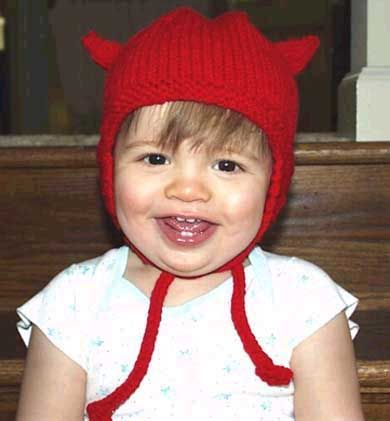 Little Devil Hat (horns are added so can be just an earflap hat)