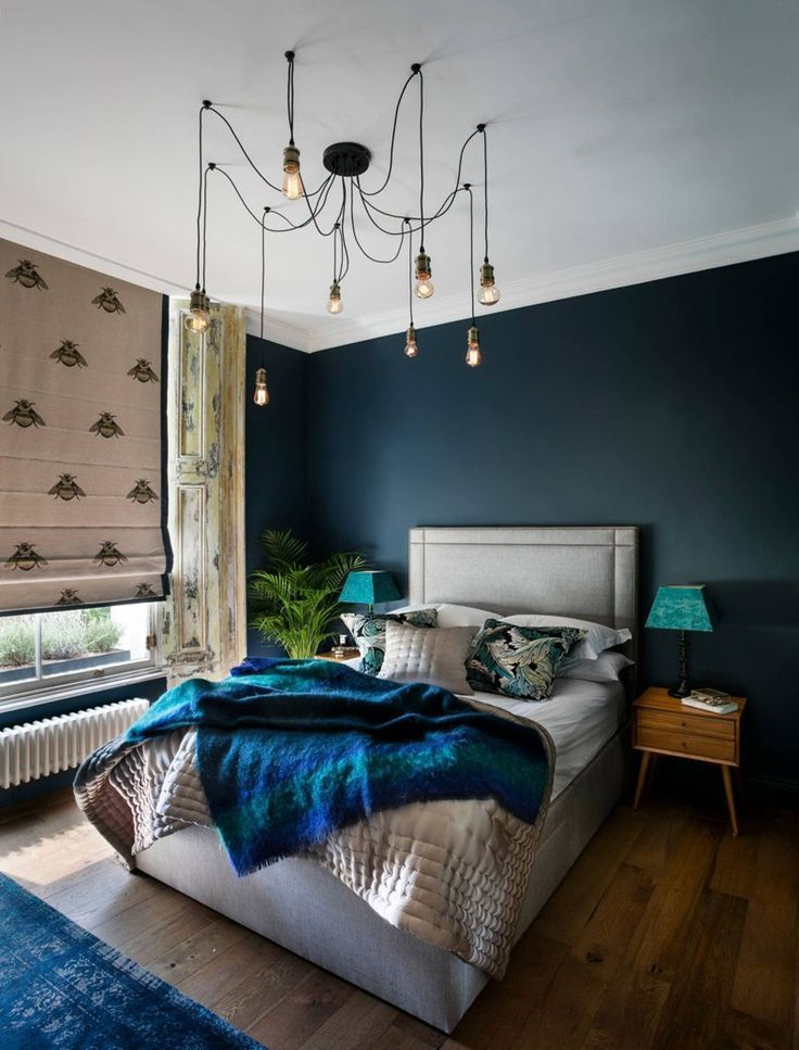 Eclectic Navy Bedroom Chandelier | TheBestWoodFurniture.com