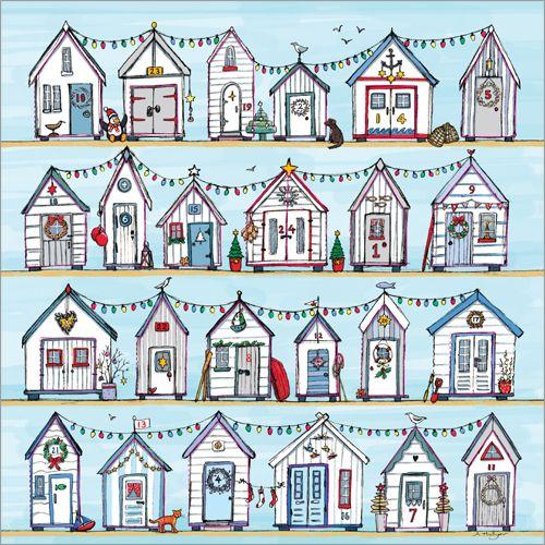Beach Huts Advent Calendar - full of Christmas sparkle!