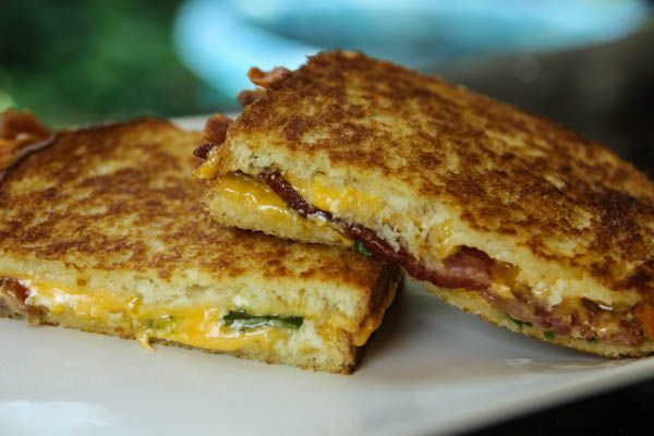 Loaded Baked Potato Grilled Cheese Sandwich. From A Southern Fairytale. (this looks like my perfect grilled cheese)