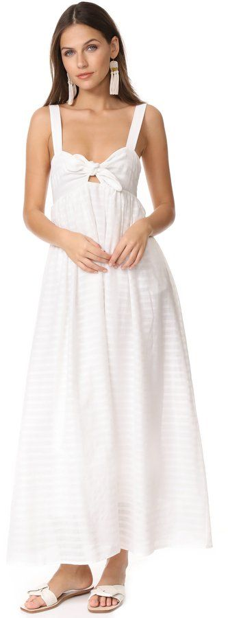 Mara Hoffman frente de amarre vestido maxi