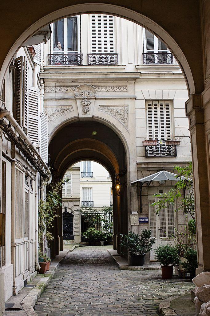 Parisian courtyard