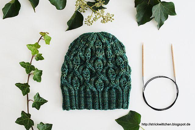 Ivy Trellis Hat by Alana Dakos, knitted by Strickwittchen | malabrigo Arroyo in Fresco y Seco