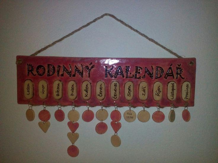 Keramický rodinný kalendář