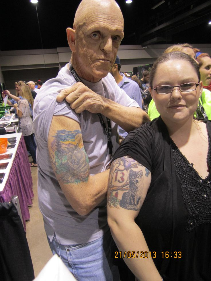 13. Pinner's Choice @The ScareFest  #Michael Berryman #Wolf tattoos   What do me and Michael Berryman have in common? More than I thought!