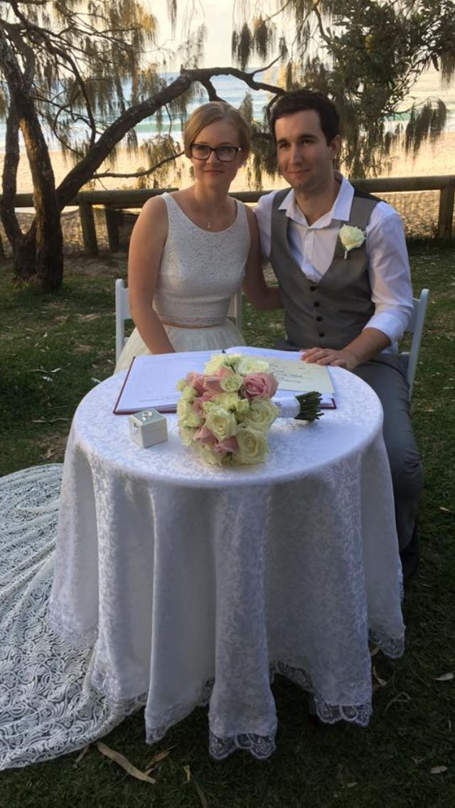 Elopements Noosa We do many lovely elopements  Libertee carried a sweet white and pink rose posy http://www.bloomsofnoosa.com.au