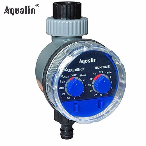 Ball Valve Automatic Electronic Water Timer Home Garden Irrigation Controller System 21025 -- Read more reviews of the product by visiting the link on the image.