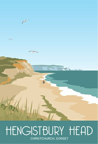 Hengistbury Head, Christchurch, Dorset. You can see the Needles, Isle if Wight, and the lighthouse in the background.