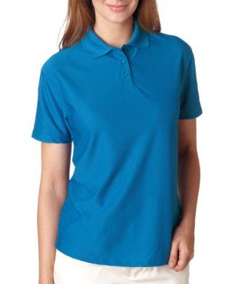 ULTRACLUB Ldy Solid Wicking Polo XL, Pacific Blue UltraClub. $26.68