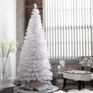 yılbaşı ağacı beyaz mavi ışıklar ile