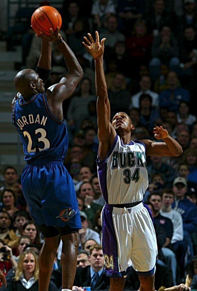 Michael Jordan Washington Wizards Ray Allen Milwaukee Bucks