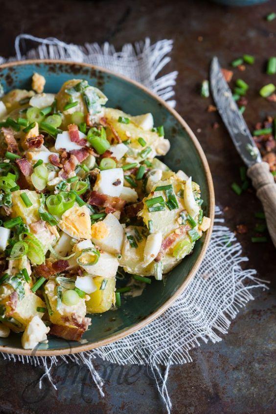 Romige aardappelsalade