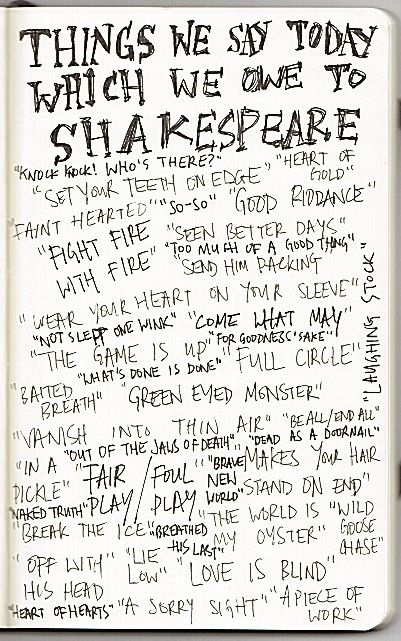 Things We Owe to Shakespeare -- and all this time I thought I didn't understand a word he said!  ;-)