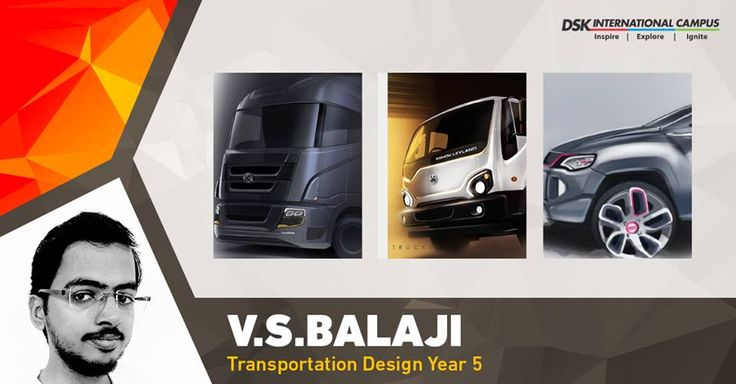 #DSKICGem Balaji has had many #awards to his names starting from his first long project for #Nissan which was awarded with 'Special Jury Mention Award'. In Year 4 he interned with #AshokLeyland #DesignStudio-India, which gave him an opportunity to work on two live projects, which are now in production.