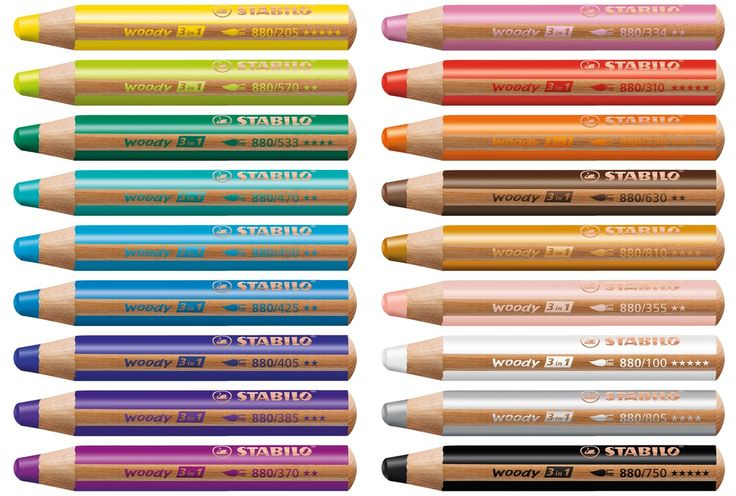 Stabilo Woody 3in1 crayons watercolor crayons