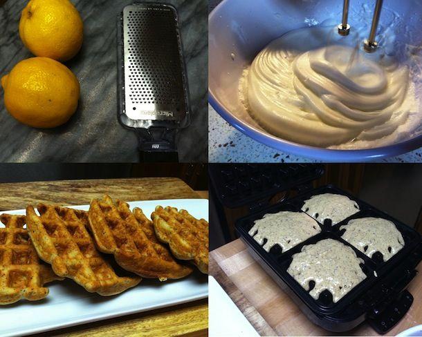 Lemon Cardamom Hazelnut Waffles (sub: chia seeds for flaxmeal, hemp or ...
