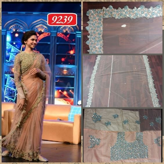 Deepika Elegant Net Bollywood Sarees Online