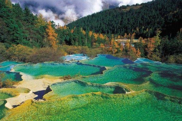 Les plus beaux lacs du Monde - Huanglong - Sichuan - Chine