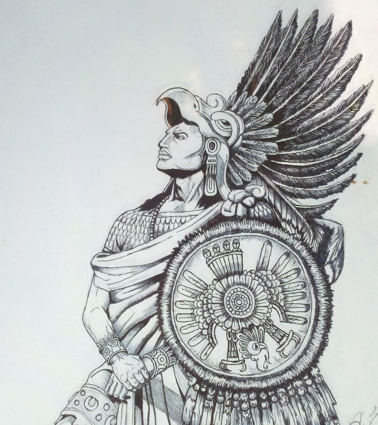 Aztec Eagle Warrior Headdress Tattoo | www.pixshark.com ...