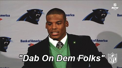 New party member! Tags: football nfl dab panthers carolina panthers cam newton dabbing dab on dem folks