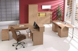 Wyposażenie pokoi pracowniczych oferowany przez firmę Meble Biurowe.