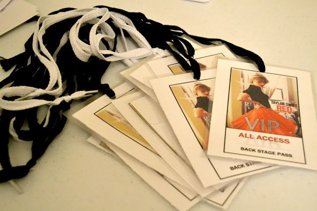 Bellapia Clothing Co.: Taylor Swift Birthday Part- Back Stage VIP Pass
