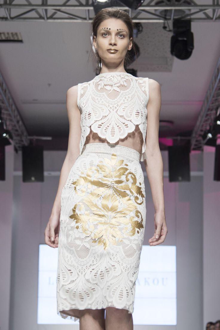 #highwaist #pencil #skirt #twopieces #bridal #gold #lace