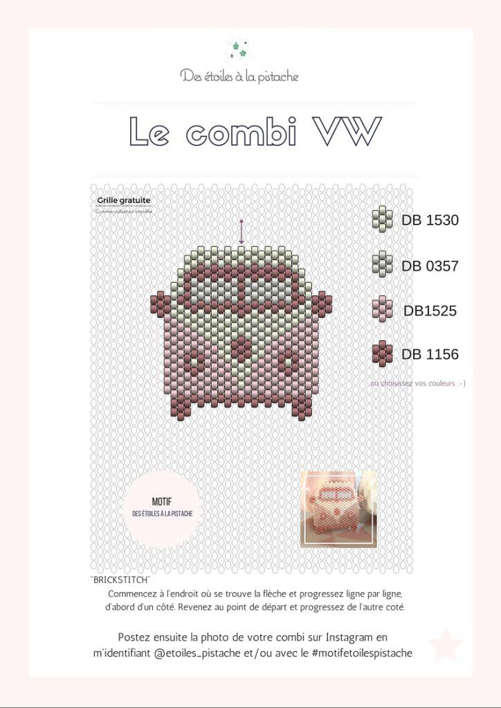 Grille COMBI VW / Des étoiles à la Pistache